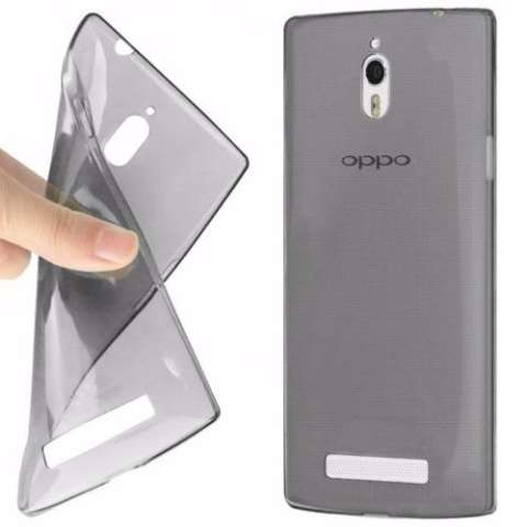 Ultra TPU Thin Case for Oppo Find 7 - Abu Abu Transparan