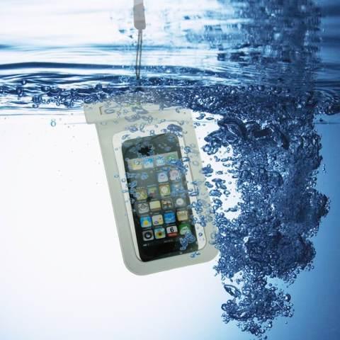 Universal Sarung Handphone Waterproof Anti Air - Biru 1