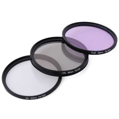 XCSource 62mm UV CPL Circular Polarizer FLD ND2 ND4 ND8 Filter Kit For Camera Lens