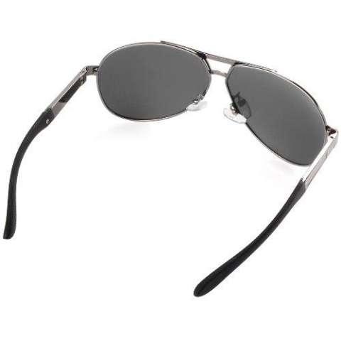 ce210dfd199 XCSource Men s Polarized Sunglasses Driving Aviator Outdoor Glasses Black  Lens Grey Frame