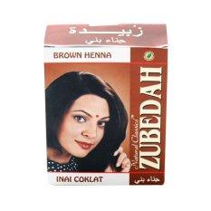 Zubedah Henna Pewarna Rambut Herbal - Inai Coklat - Pack of 6