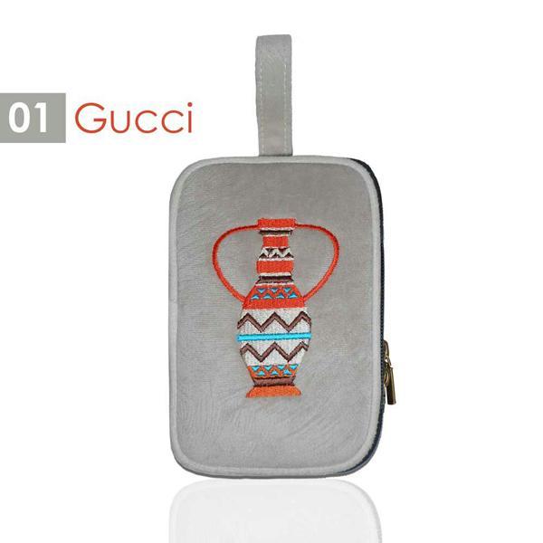 Mammora Pouch Gucci Dompet Wanita 2 Ruang Resleting, Dompet Tangan Multifungsi ALL07