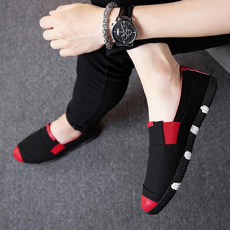 Mudah dipakai sepatu pria bernapas sepatu kasual Carrefour Sepatu malas musim panas sepatu trendi Pria Sepatu kanvas Beijing oldish kain