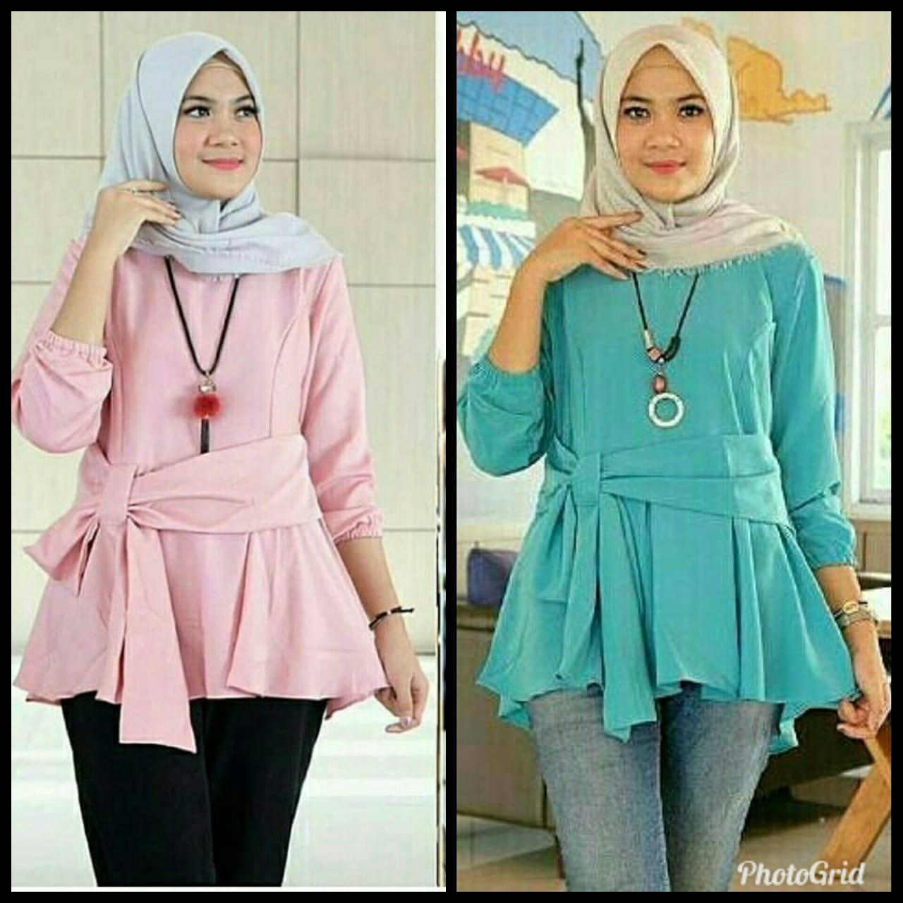 Baju Original Heva Top Blouse Wolfice Atasan Wanita Muslim Blus Gita Kerja Casual Modern Terbaru