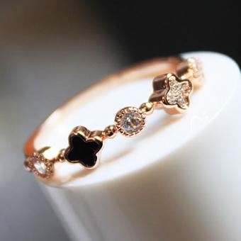 Beruntung berlian sederhana dibesar-besarkan ms. cincin Nvjie OT571OTAAR9U12ANID-60935203 Taobao