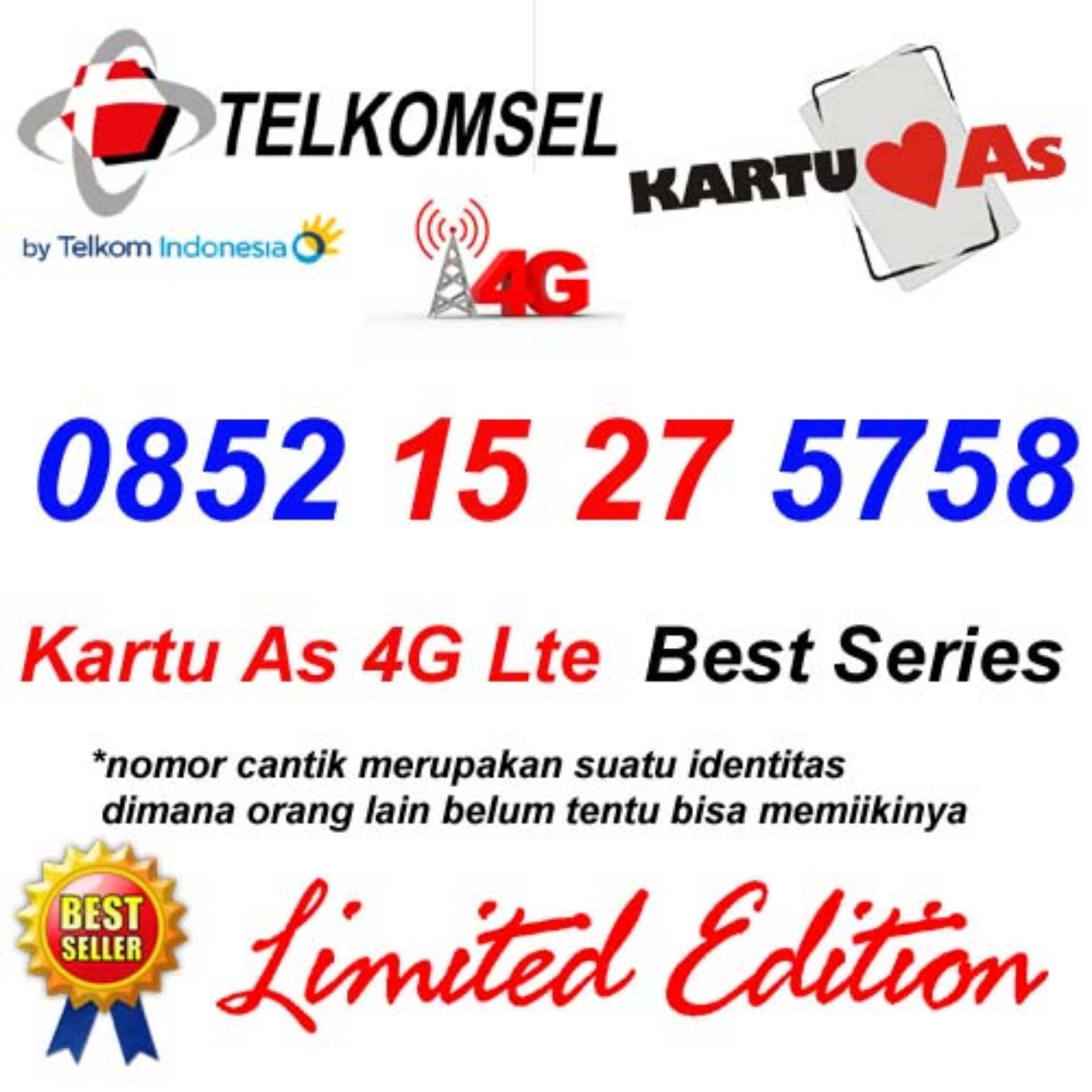 Telkomsel As 4G Lte 0852 15 27 5758 Kartu Perdana Nomor Cantik Maju Mapan