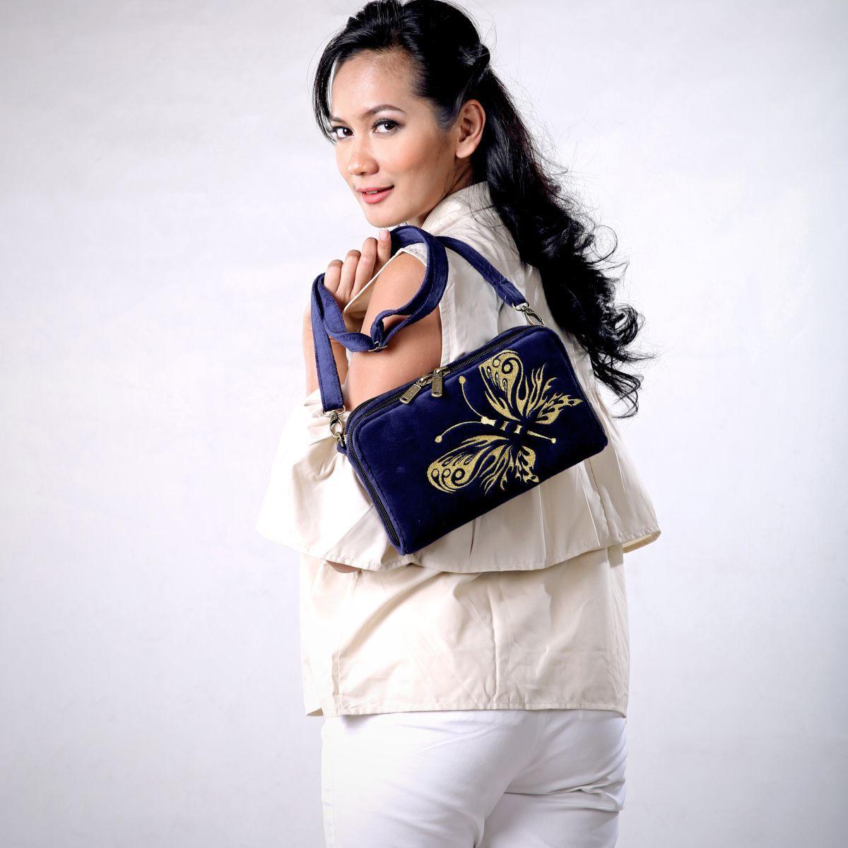 Sling Bag Original Branded Etnik, Dompet Wanita HPO 8 Anteroz