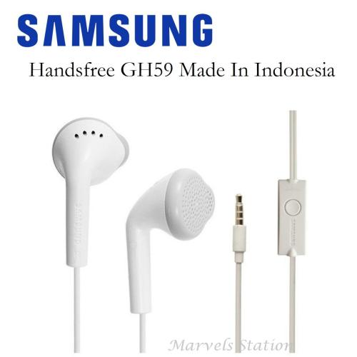 Samsung Handsfree GH59 / Headset J1 Made In Indonesia - Original - Headphone In Ear [