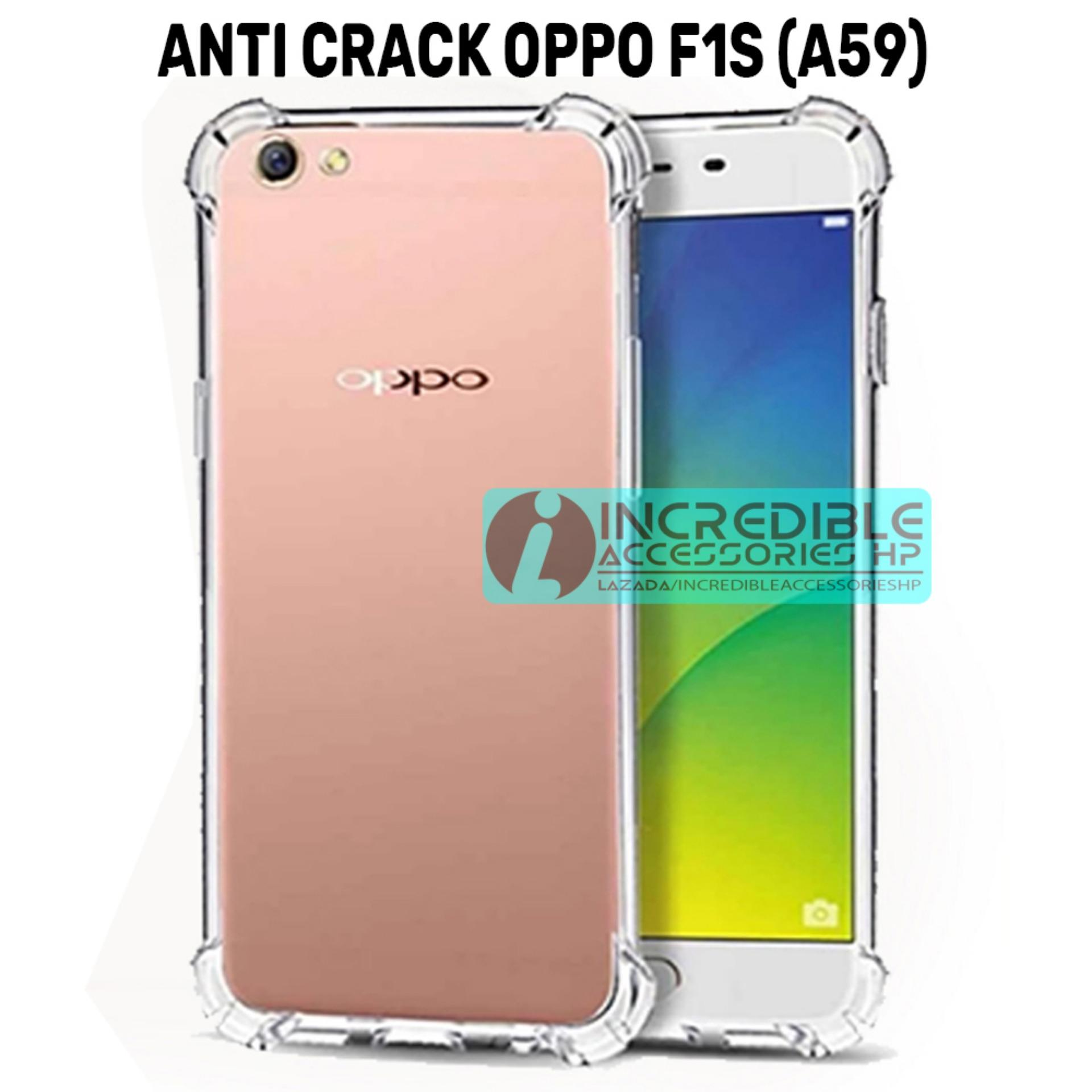 Case Anti Shock / Anti Crack Elegant Softcase for Oppo F1s (A59) - White Clear | Lazada Indonesia