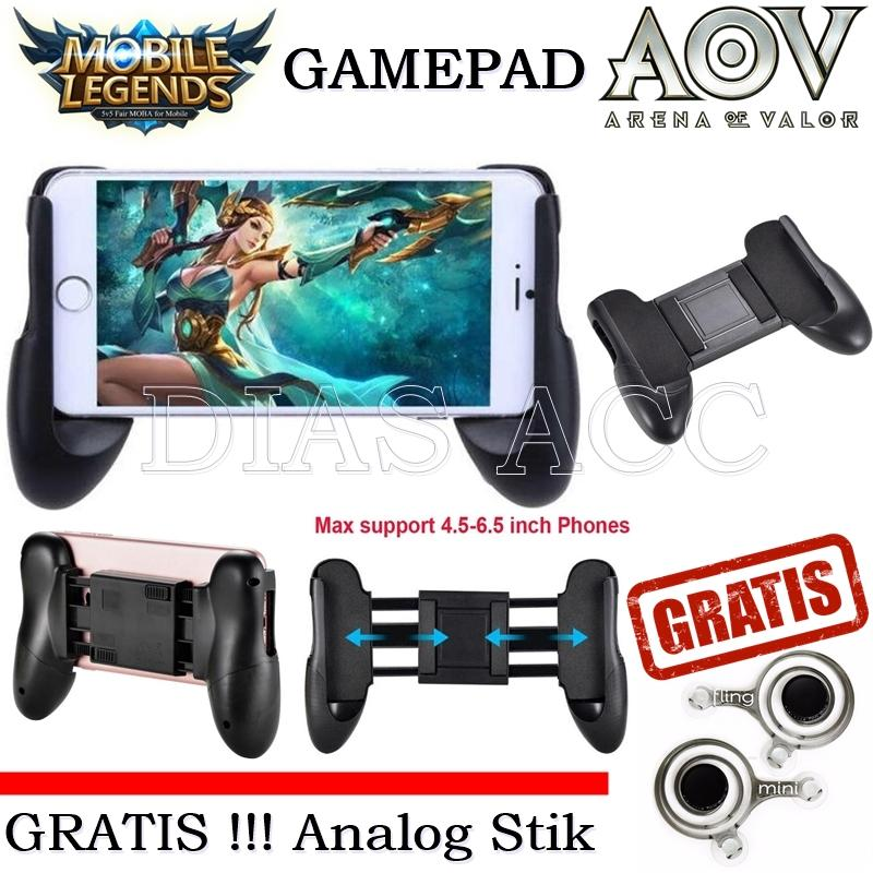 Universal Gamepad Mobile Hand Grid For Smartphone Gaming + FREE Joystick Gaming - Warna Hitam