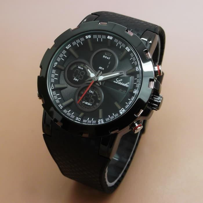 Lasebo LSB-8037 Original Jam Tangan Pria Rubber List Brown 78dbf0e02b