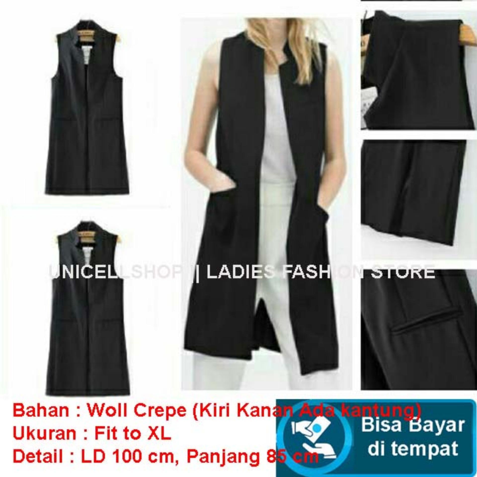 Blazer Panjang Wanita Vest Ignacia / Cardingan / Long Vest Coat / Outwear terusan wanita NR