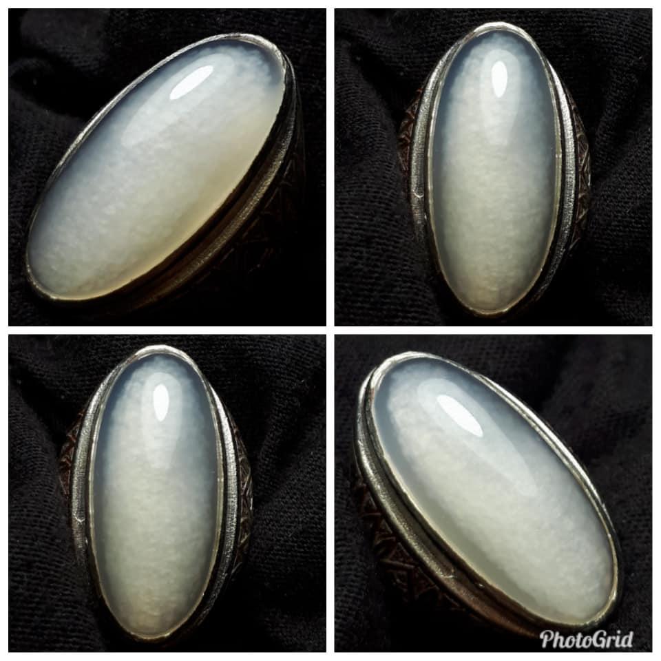 Batu Akik Pandan Kapas Sisik Betik Teiwe Moeslim Watch Tw15001 Jam Tangan Pria Silver