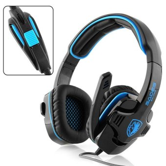 Sades GPower SA-708 Headset Gaming - Biru
