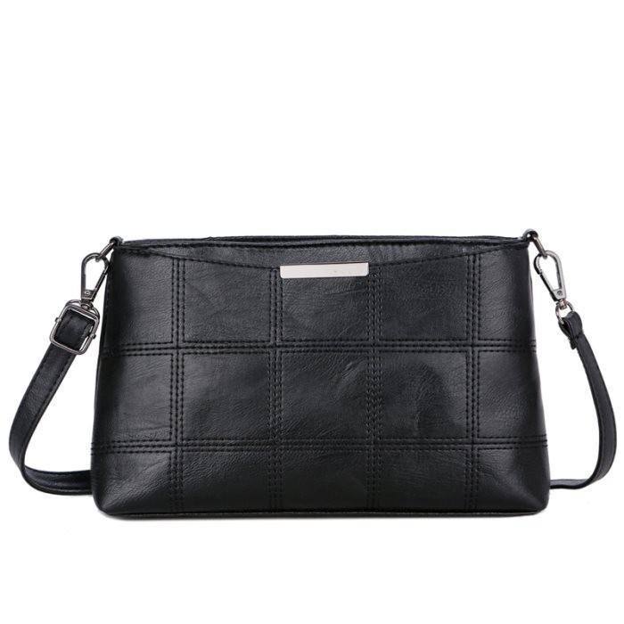 KGS Tas Selempang Wanita Impor Mini Cross Stitch Sling Bag - Hitam