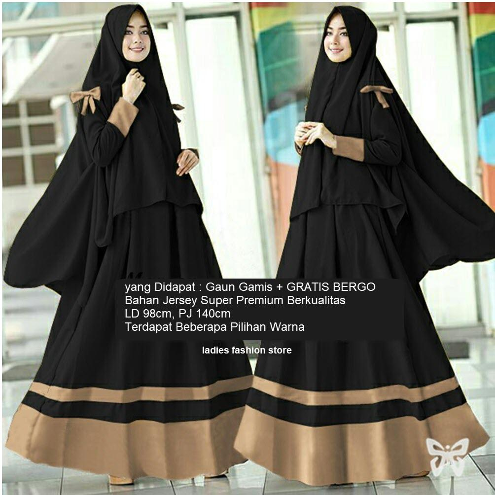 Gamis Wanita Muslimah GRATIS JILBAB   Gamis Lebaran   Gamis Panjang Syari    Gamis Syar i   Dress Maxi Muslimah   Gaun Wanita   Baju Muslim 2in1   Gamis  ... 9361ad4b9b