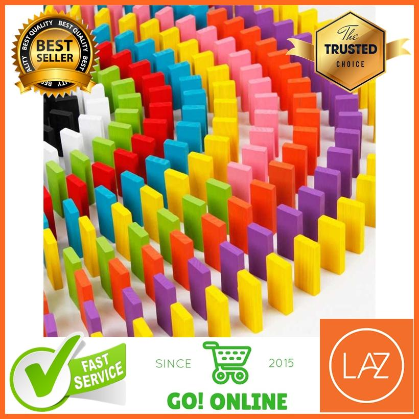 Balok Domino Chain Reaction 120 Pcs Wood Material Multicolor