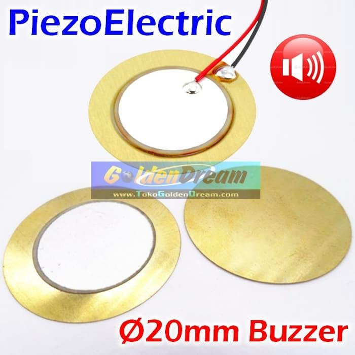 Piezo Electric Ceramic Buzzer 20Mm Element Sounder Sensor Sound Disc - ready stock