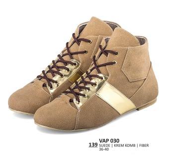 Everflow Sepatu Sneaker / Lifestyle / Kasual Wanita - VAP 030 Warna : Krem Bahan :