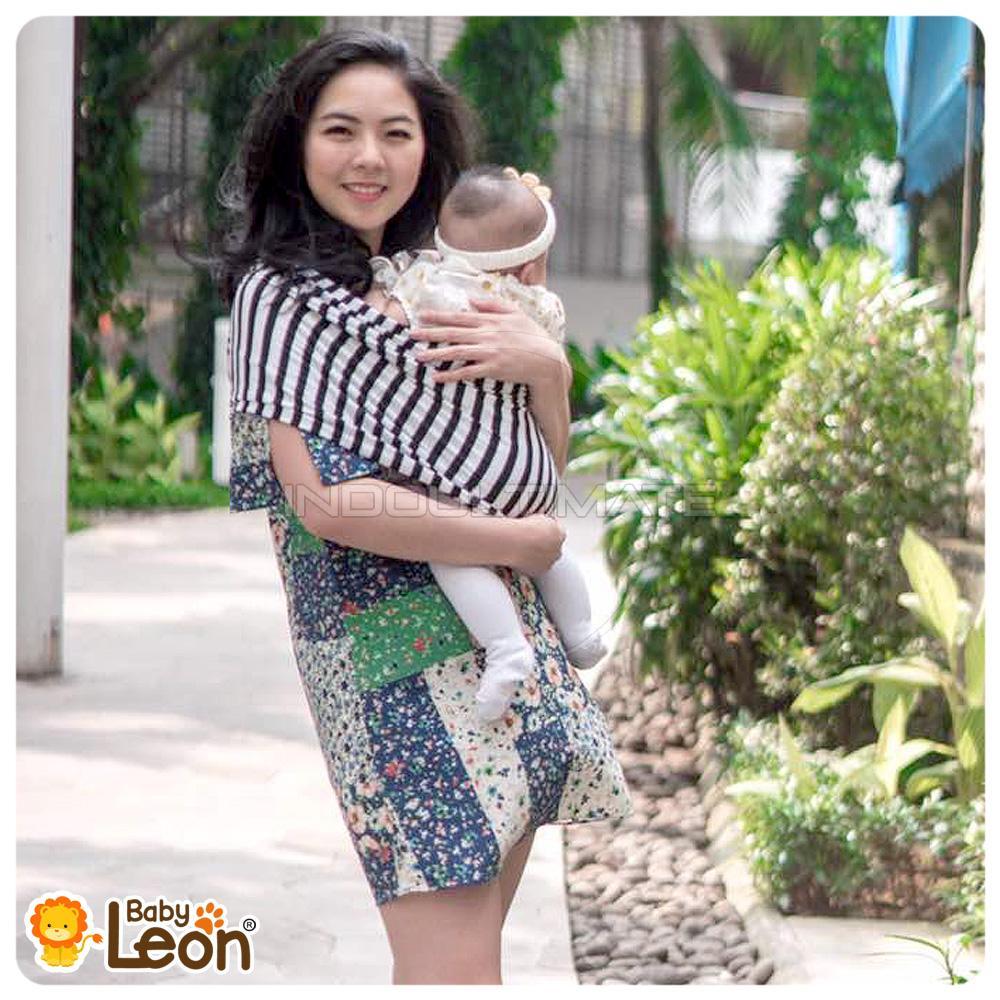 BABY LEON Gendongan Bayi Kaos/Geos/selendang Bayi Praktis BY 44 GB SALUR Ukuran S - White Salur | Lazada Indonesia