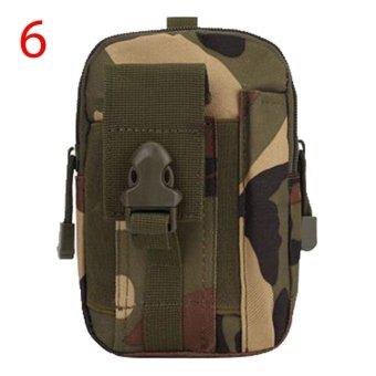 Cushan Men's Outdoor Camping Tas Hiking Pouch Military Army Pinggang Pack dengan Belt Loop untuk Aksesoris
