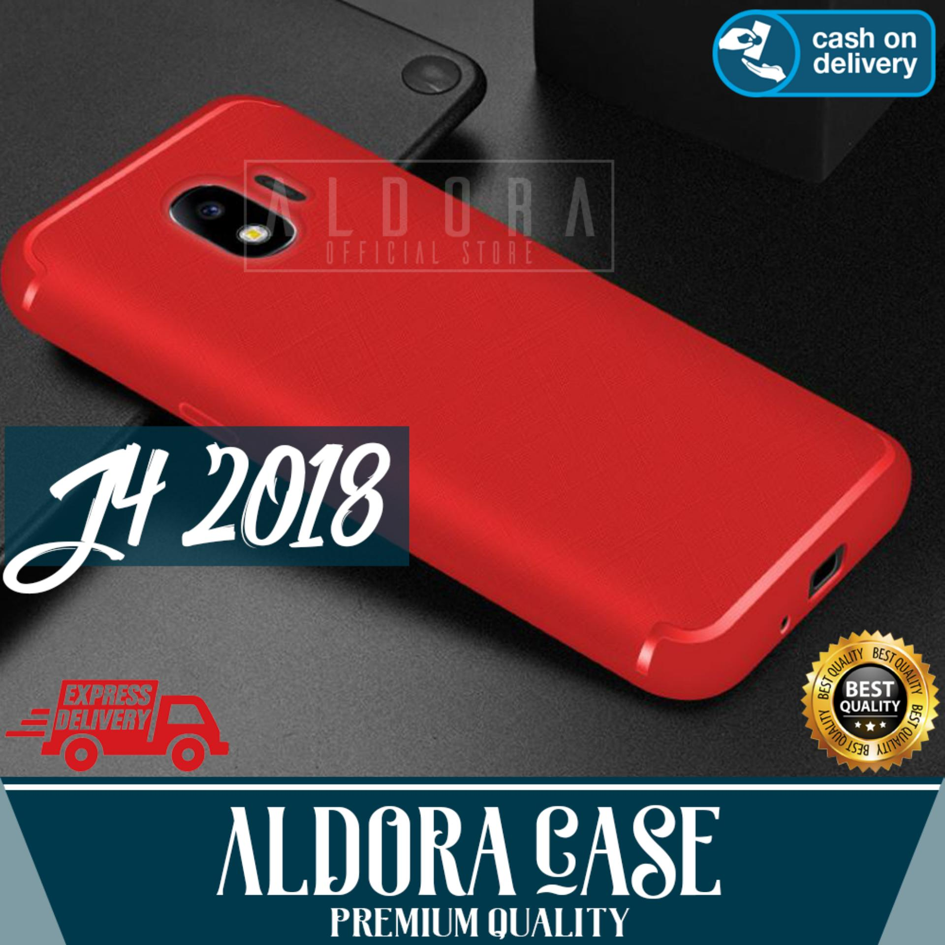 Aldora Case For Samsung Galaxy J4 2018 SoftCase UltraSlim Cross Smile Series Premium Quality