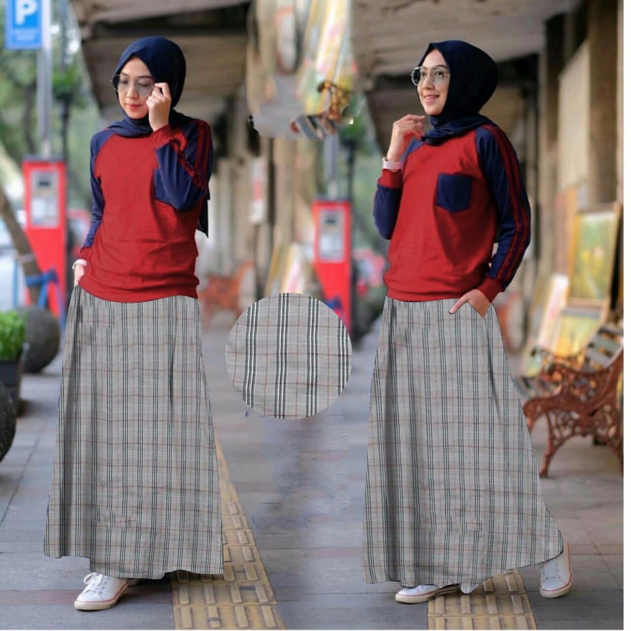 DoubleC Fashion Setelan Abidah / Pakaian Muslim / Atasan Muslim / Dress Wanita / Baju Muslim