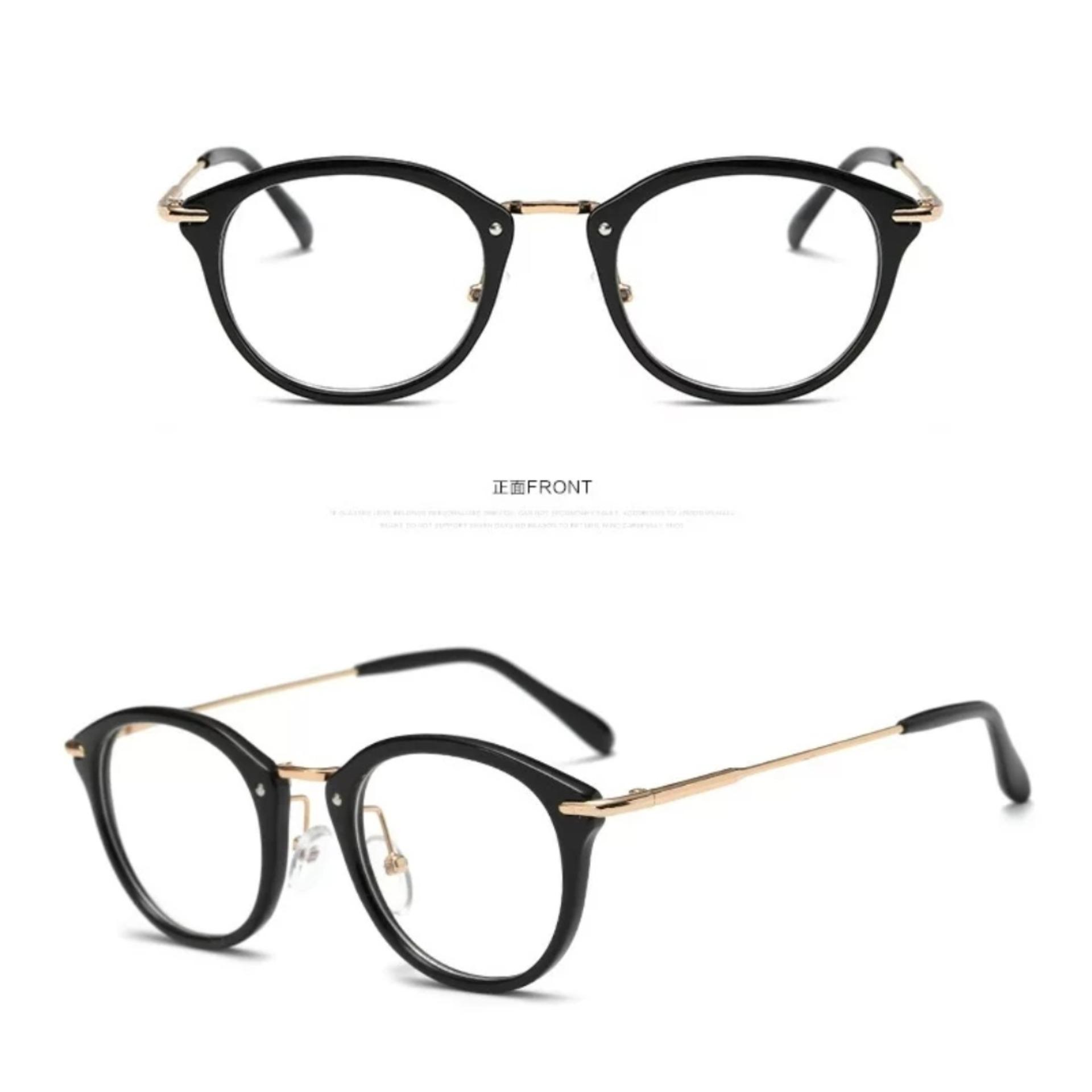 High Quality Charming Women's Round Clear Lens Glasses Metal Frame Nerd Eyeglass Spectacles 830 PINK -