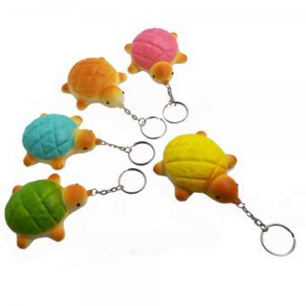 Simply Chic Squishy Gantungan Kunci Kura-Kura( Squishy Simulation Turtle Slow Rising Squishy Fun