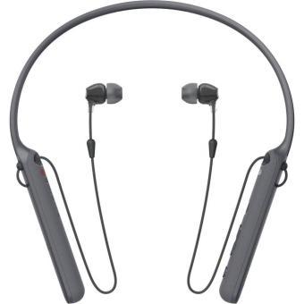 Sony Original WI-C400 / WI C400 / WIC400 Black Wireless Bluetooth Behind-Neck In Ear Headphone with Mic - headset warna Hitam , garansi resmi 1 tahun Sony Indonesia