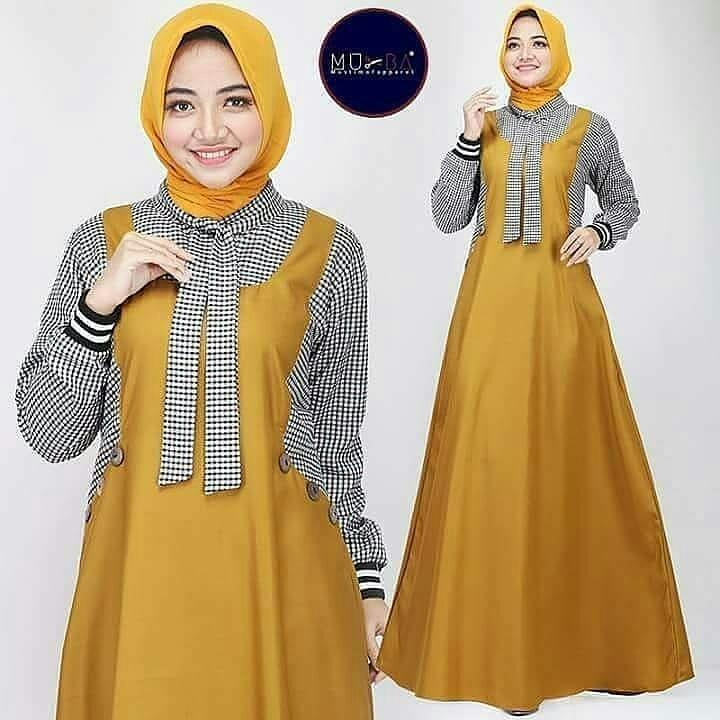 Rp79.000Baju Wanita Excel Dress Balotely Gamis Muslim Panjang Payung  Supplier Pakaian Dewasa Bandung Termurah Fashion Hijab Kekinian Maxy Cewek Trendy  Modis ... aac57fd38f