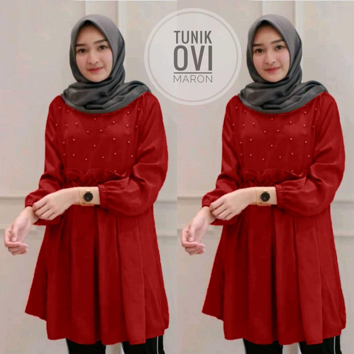 Kyoko Fashion Tunik Ovi Muslimah / Tunik Wanita / Atasan Wanita / Kemeja Wanita / Baju