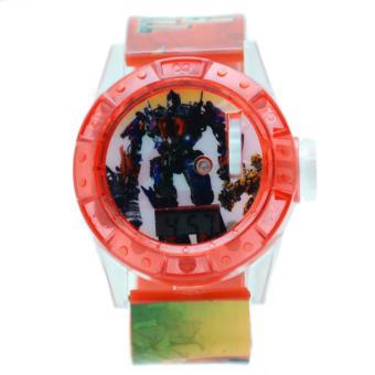 DnB COLLECTION Jam Tangan Projector Transformer - Merah a04dd9adac