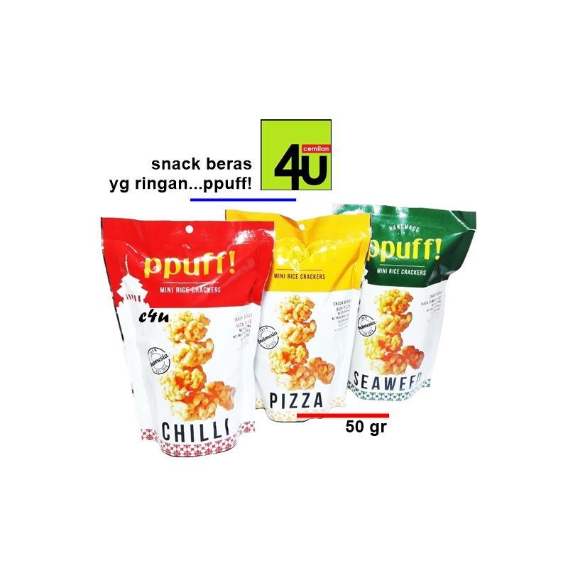 PPUFF - Mini Rice Crackers 50 gr - Paket 2 bks
