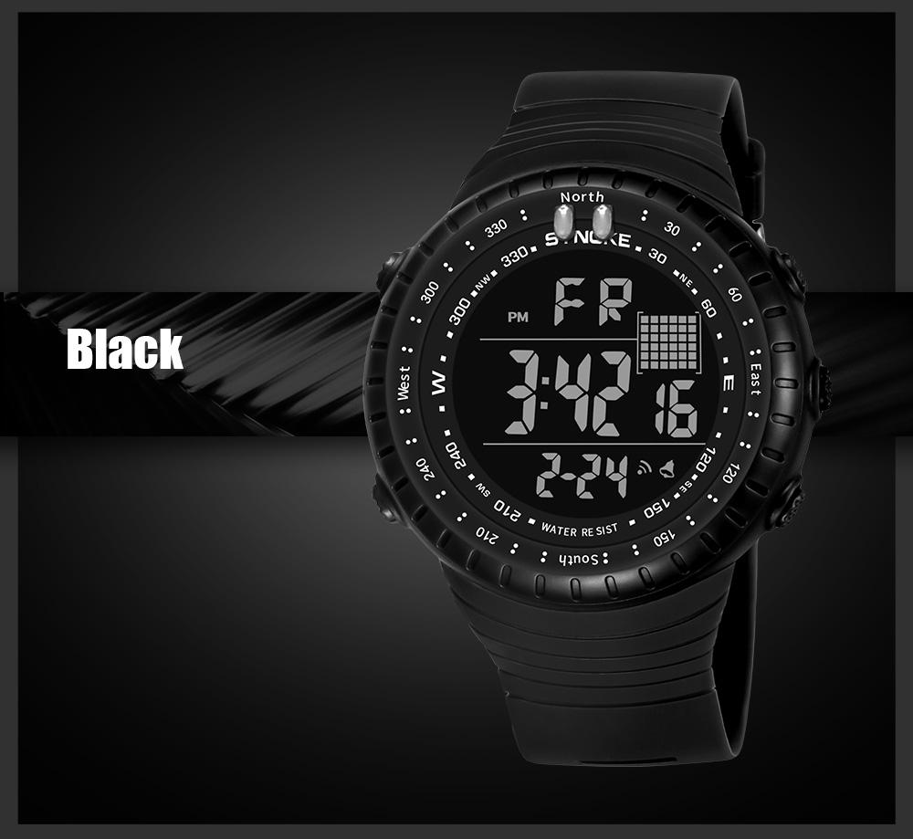 Sport Men Watch Led Alarm Calendar LED Wrist Watches for Boy Electronic Clock Stop Watch Montre Homme Digital Dropshipping - intl