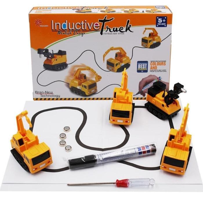 INDUCTIVE CAR / Mobil Induktif - Mainan Mobil Ajaib (Seri Konstruksi)