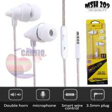... MSH Headset Stereo Bass MSH 209 Headset Samsung Headset Oppo Headset Vivo Headset Xiaomi Handsfree Universal