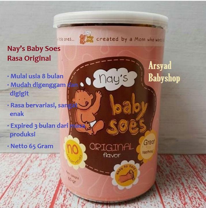 Arsyad Babyhop - Nays Baby Soes Rasa Original Makanan Ringan Bayi Cemilan Organik