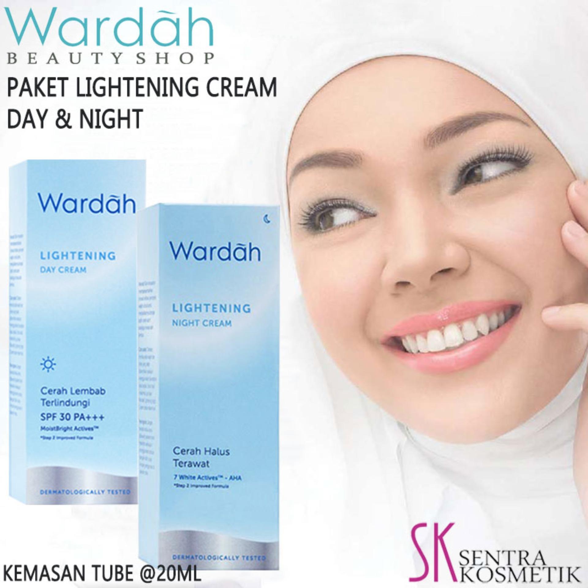 Wardah Paket Lightening Day Dan Night Tube 20 Ml Lazada Indonesia Cream