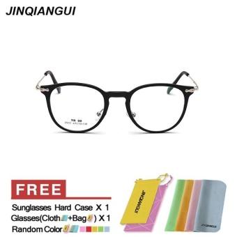 JINQIANGUI Kacamata Bingkai Wanita Square Plastik Kacamata Bingkai Warna  Hitam Perancang Merek Bingkai Tontonan untuk Nearsighted a735a4e749