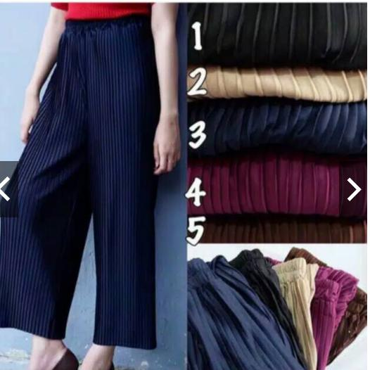 celana kulot plisket premium celana kulot kerja celana kulot polos termurah kulot terlaris