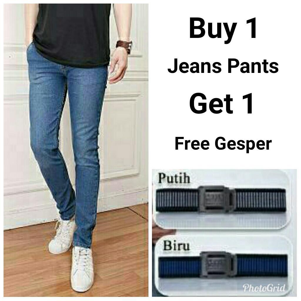 Fashion Brand Lokal Buy 1 Get Many Salvo Sepatu Kasual Denim Pria Coklat Miracle Free Beli Celana Panjang Jeans Gratis Gesper