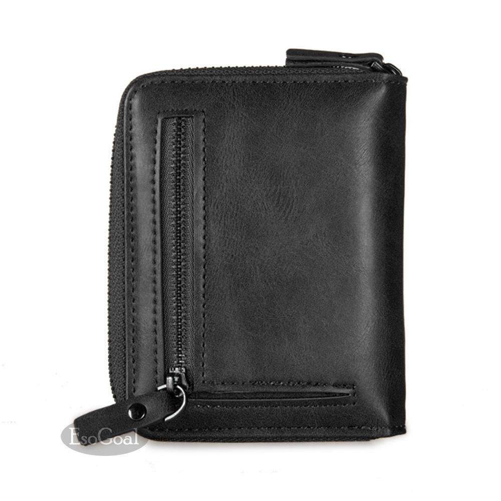 Mens Retro Genuine Leather Wallet Bifold Slim Money Pocket Purse Card ID Holder