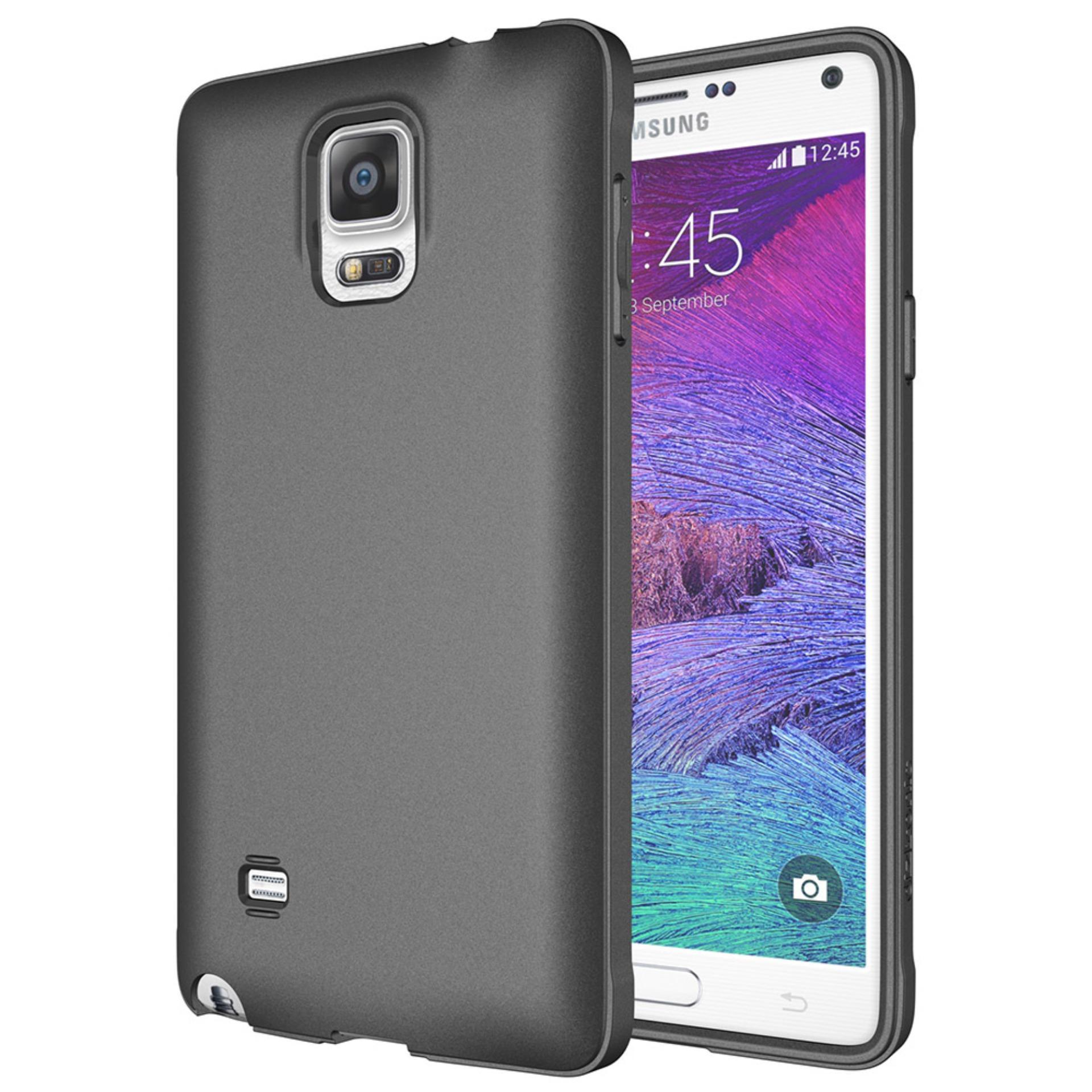 Rp24.900DarkNight for Samsung Galaxy Note 4 / N910 / LTE / Duos | Slim Case Black Matte Softcase Premium (Anti Minyak/Anti Sidik Jari) - Hitam Doff