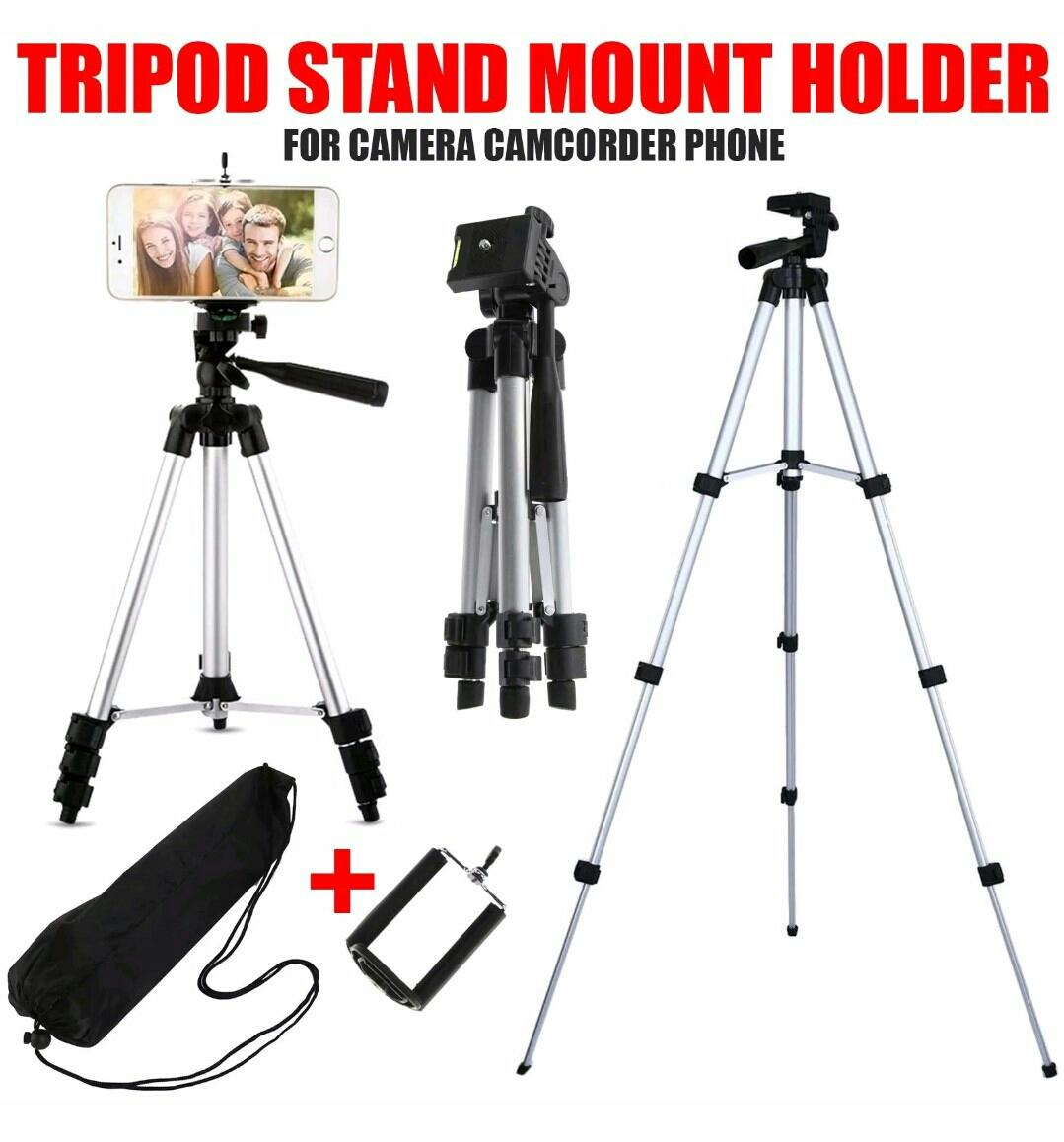 Ringstar Portable Tripod Stand 4 Section Aluminium Legs With Brace Weifeng Kamera Dslr Dan Handphone 1 M