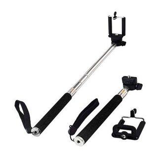 YBC Universal Yang Dapat Diperpanjang Handheld Selfie Stick dengan Adjustable Ponsel Pemegang Klip-Intl