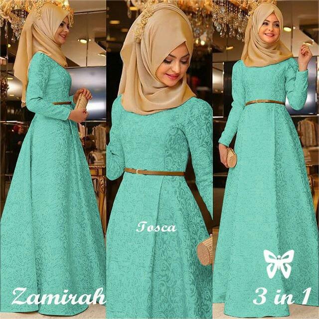 Kedai Baju Pakaian Muslim Baju Muslim Murah Syari Hijab Gamis Zamirah Dusty Pink .