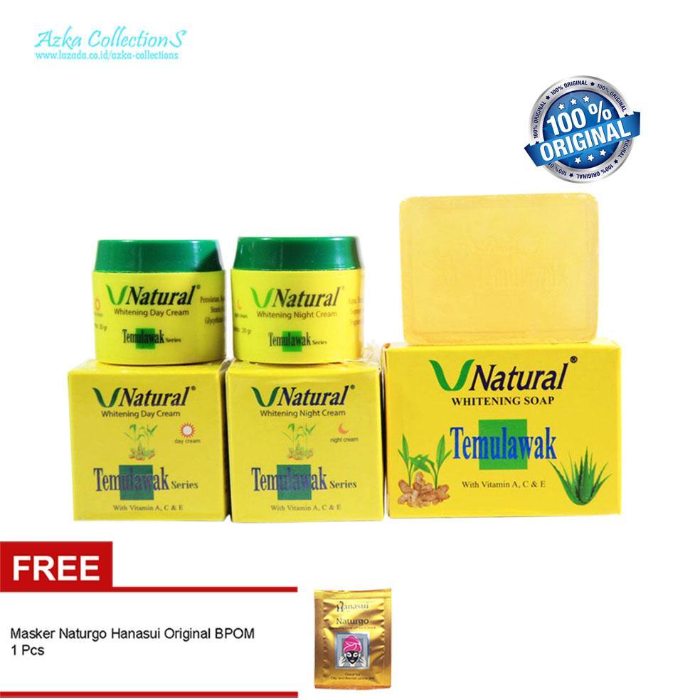 Paket Cream Temulawak V Natural Original Plus Sabun Wajah Free Masker Naturgo Hanasui 1pc Lazada Indonesia