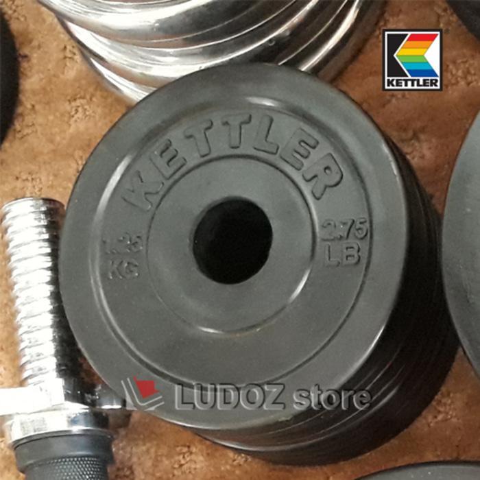 Kettler 1.25Kg Plat Beban Karet Dumbell Rubber Plate Barbell 1,25 Kg ..
