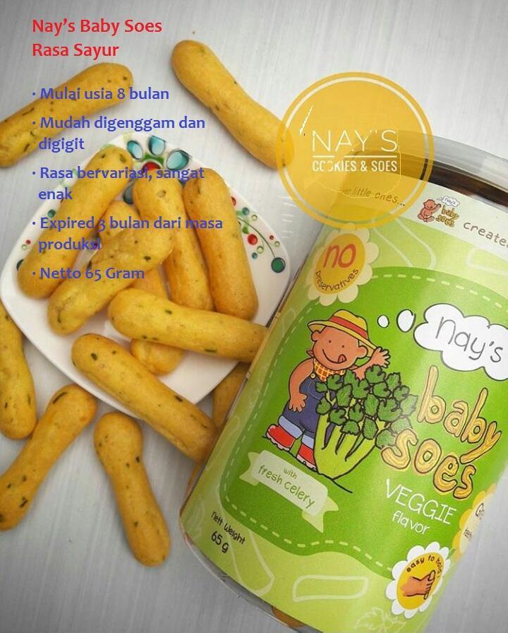 Arsyad Babyhop - Nays Baby Soes Rasa VEGETABLE (SAYURAN) Makanan Ringan Bayi Cemilan Organik